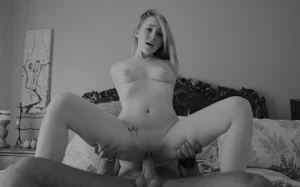 Crazy bitch with big tits Candy Alexa sucks hard pole and gets rammed
